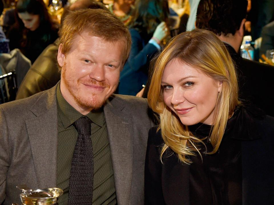 Actors Jesse Plemons and Kirsten Dunst attend the 2017 Film Independent Spirit Awards at the Santa Monica Pier on February 25, 2017 in Santa Monica, California.