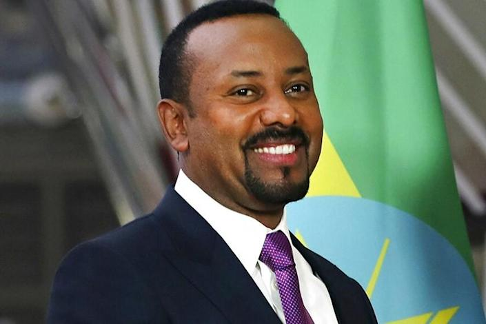 Ethiopian Prime Minister Abiy Ahmed at the European Council headquarters in Brussels on Jan. 24.
