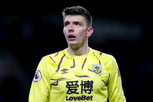 England goalkeeper Nick Pope is among the players to have thrived since joining Burnley as a youngster (Martin Rickett/PA)