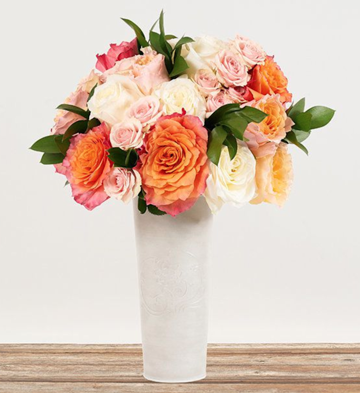 """<h2><a href=""""https://bouqs.com/flowers/mothers-day/campanella-free-spirit-candlelight-star-blush-roses"""" rel=""""nofollow noopener"""" target=""""_blank"""" data-ylk=""""slk:The Bouqs Co. Mixed Bouquet"""" class=""""link rapid-noclick-resp"""">The Bouqs Co. Mixed Bouquet<br></a></h2><br>Because you simply can't go wrong with the <a href=""""https://www.refinery29.com/en-us/flower-delivery-same-day"""" rel=""""nofollow noopener"""" target=""""_blank"""" data-ylk=""""slk:delivery of a classic flower bouquet"""" class=""""link rapid-noclick-resp"""">delivery of a classic flower bouquet</a> to brighten up anyone's day — especially if you've got no choice but to celebrate Mother's Day at a distance this year. <br><br><strong>The Bouqs Co</strong> Love You Forever Bouquet, $, available at <a href=""""https://go.skimresources.com/?id=30283X879131&url=https%3A%2F%2Fbouqs.com%2Fflowers%2Fmothers-day%2Fcampanella-free-spirit-candlelight-star-blush-roses"""" rel=""""nofollow noopener"""" target=""""_blank"""" data-ylk=""""slk:The Bouqs Co"""" class=""""link rapid-noclick-resp"""">The Bouqs Co</a>"""