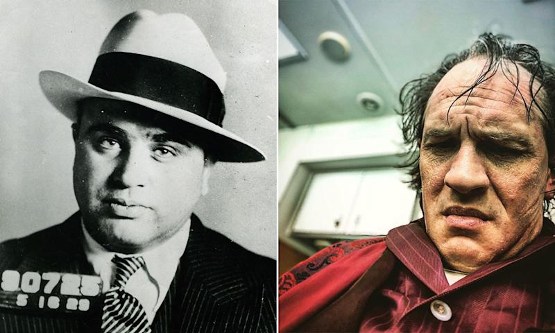 Hardy is playing Capone in his twilight years in Fonzo (Rex/Instagram)