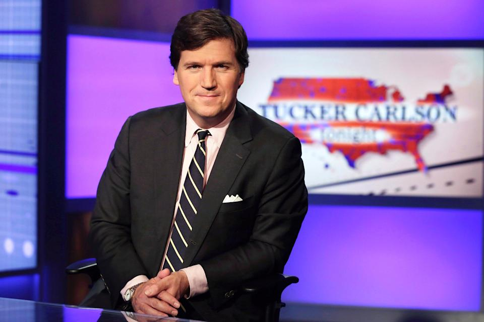 <p>File image: Tucker Carlson, is a popular host of Fox News</p> (AP)