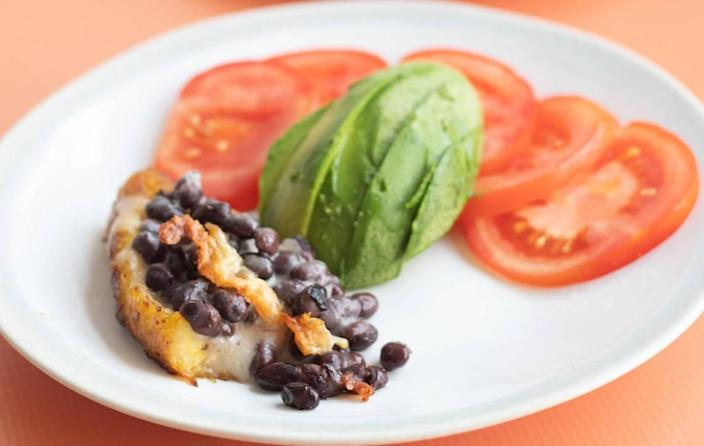 Nutritionist Krista Linares' Black Bean and Cheese Canoas (Sweet Plantain Boats).
