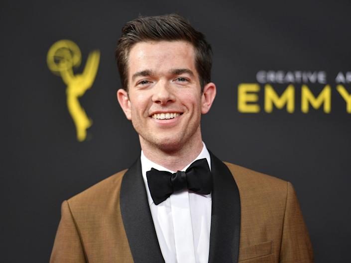 John Mulaney arrives at night one of the Creative Arts Emmy Awards on Sept. 14, 2019, in Los Angeles.