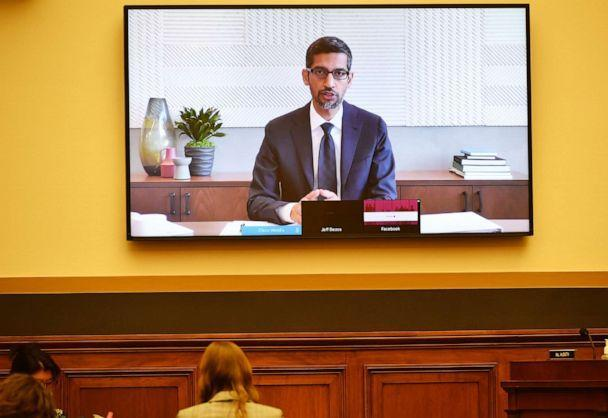 PHOTO: Sundar Pichai, chief executive officer of Alphabet Inc., speaks via videoconference during a House Judiciary Subcommittee hearing in Washington, D.C., on July 29, 2020. (Bloomberg via Getty Images, FILE)