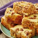 "<p>All your favourite <a href=""https://www.delish.com/uk/cooking/recipes/a28826709/carrot-cake-banana-bread-recipe/"" rel=""nofollow noopener"" target=""_blank"" data-ylk=""slk:carrot cake"" class=""link rapid-noclick-resp"">carrot cake</a> flavours transformed into one delectable <a href=""https://www.delish.com/uk/cooking/recipes/a30713621/reeses-peanut-butter-blondies-recipe/"" rel=""nofollow noopener"" target=""_blank"" data-ylk=""slk:blondie"" class=""link rapid-noclick-resp"">blondie</a> complete with cream cheese swirl! If you're a carrot cake purist, you can leave out the walnuts and sultanas.</p><p>Get the <a href=""https://www.delish.com/uk/cooking/recipes/a31190492/carrot-cake-blondies/"" rel=""nofollow noopener"" target=""_blank"" data-ylk=""slk:Carrot Cake Blondies"" class=""link rapid-noclick-resp"">Carrot Cake Blondies</a> recipe.</p>"
