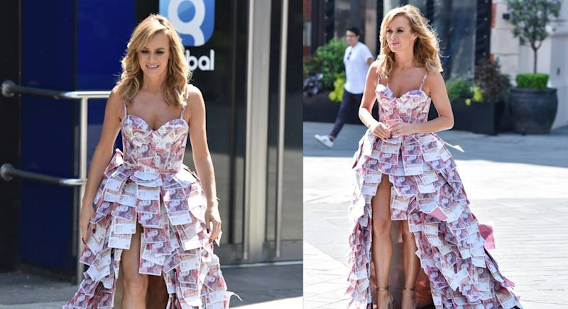 Amanda Holden is a fan of a lockdown costume. (Getty Images)