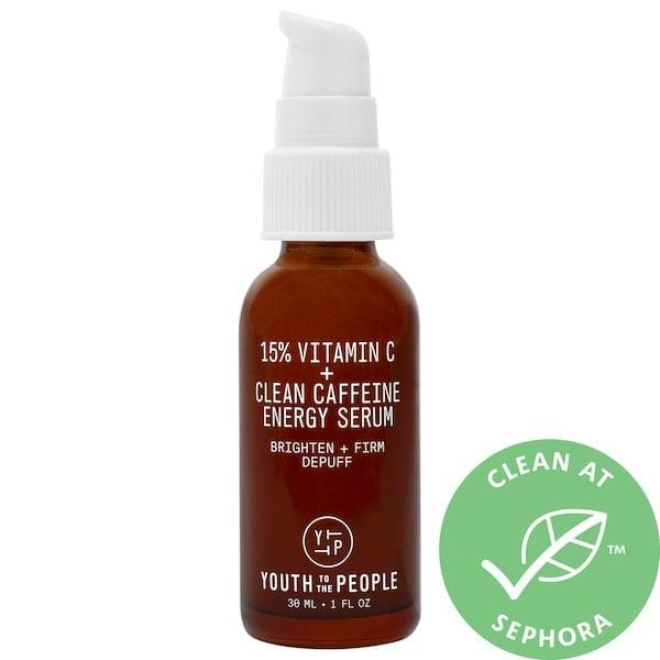 <p>This <span>Youth To The People Yerba Mate + 15% Vitamin C Brightening Serum</span> ($68) depuffs and reduces dark spots with a vitamin C blend and caffeine from yerba mate and guayusa.</p>