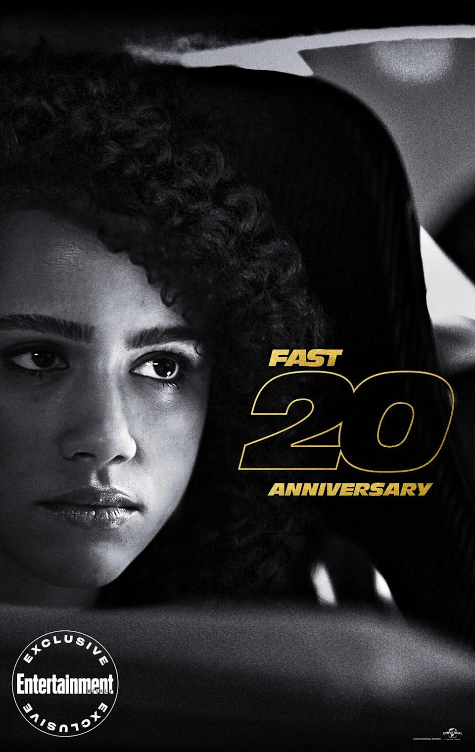 """<p><a href=""""https://ew.com/tag/nathalie-emmanuel/"""" rel=""""nofollow noopener"""" target=""""_blank"""" data-ylk=""""slk:Nathalie Emmanuel"""" class=""""link rapid-noclick-resp"""">Nathalie Emmanuel</a>'s world-class hacker Ramsey has gone from being saved by the family in <em>Furious 7</em> to becoming an integral part of it. """"I often feel so attracted to women who are so undeniably talented, and Ramsey is absolutely that,"""" said Emmanuel on <a href=""""https://ew.com/ew-binge-podcast/fast-saga-nathalie-emmanuel-fate-of-the-furious/"""" rel=""""nofollow noopener"""" target=""""_blank"""" data-ylk=""""slk:EW's BINGE: The Fast Saga"""" class=""""link rapid-noclick-resp""""><em>EW's BINGE: The Fast Saga</em></a>. """"On a personal level, because of the impact that <em>Fast & Furious</em> has had for me as a woman of mixed Black heritage, and seeing the diversity of those movies and how they grow, being a part of that huge impact that those movies have across the entire world was just so exciting - the idea that someone might one day see me and feel represented the way that I did when I was a kid.""""</p>"""