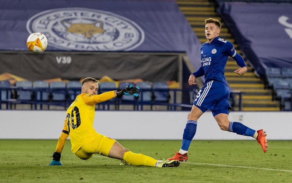 Harvey Barnes scored on his Europa League debut - GETTY IMAGES