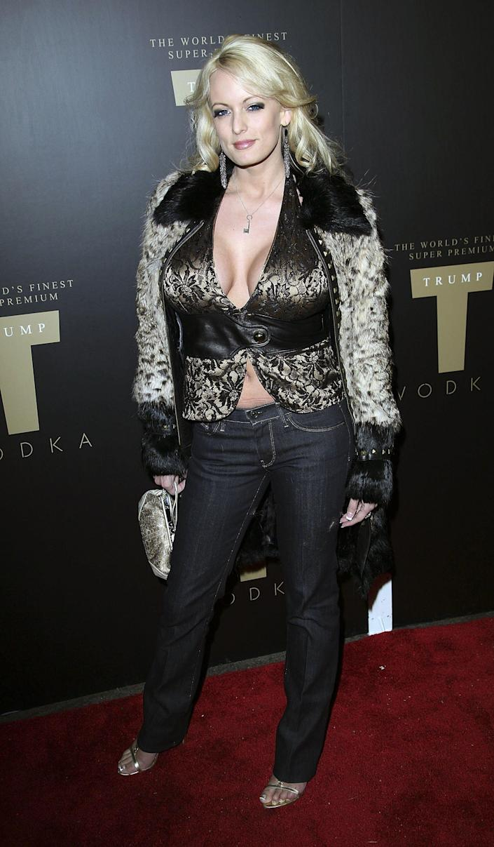 Adult film actress Stormy Daniels attends the launch party for Trump Vodka in Los Angeles in 2007. (Photo: Chad Buchanan/Getty Images)