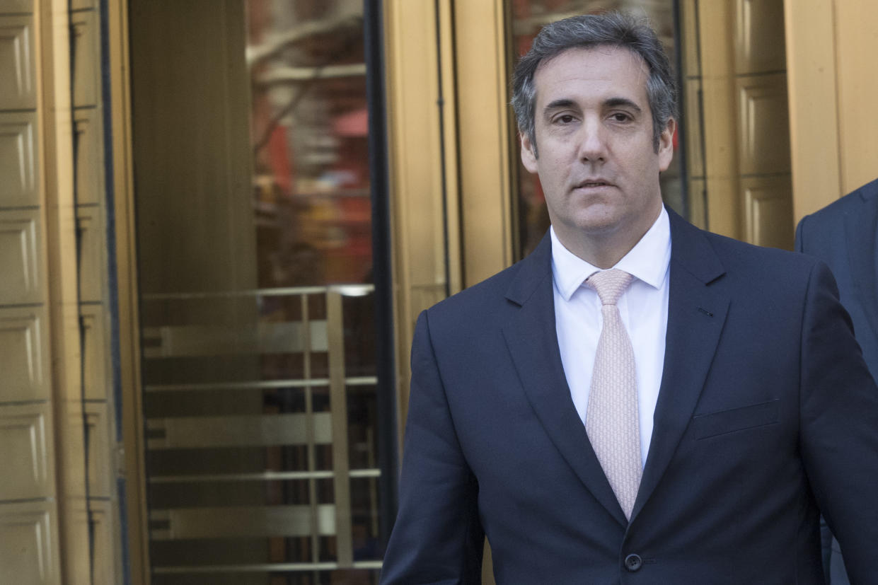 Michael Cohen, President Trump's personal attorney. (Photo: Mary Altaffer/AP)