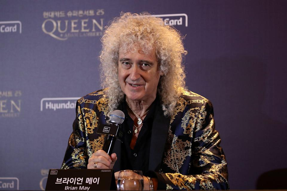 Brian May of Queen attends a news conference ahead of the Rhapsody Tour at Conrad Hotel in Seoul, South Korea January 16, 2020. Chung Sung-Jun/Pool via REUTERS