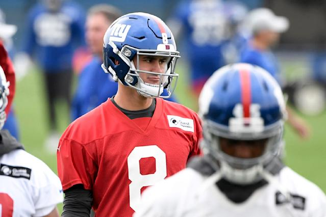 Daniel Jones knows his draft selection was derided by some vocal Giants fans. (USA TODAY NETWORK)