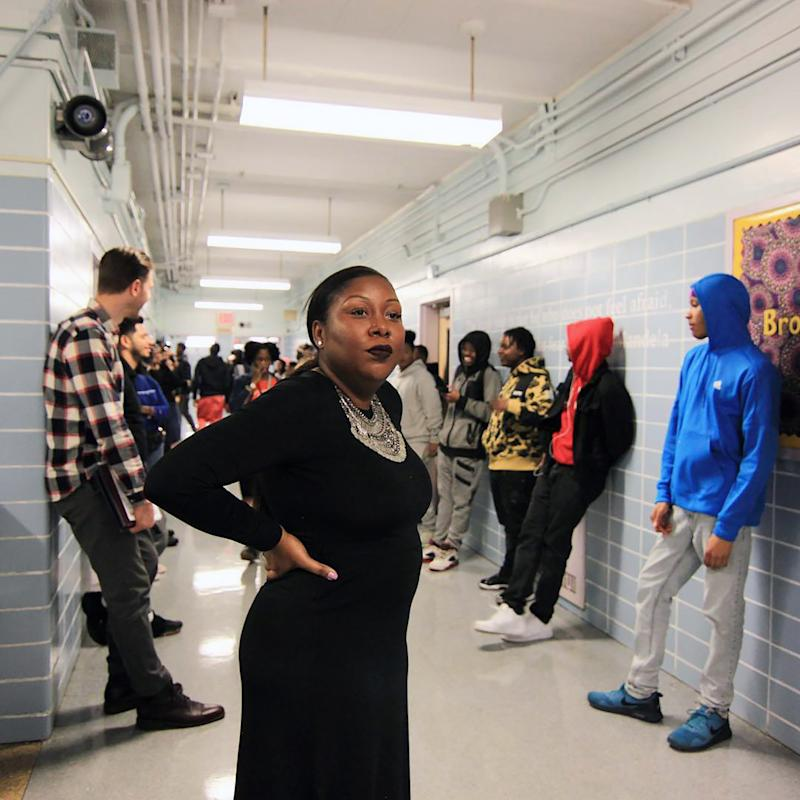 Dez-Ann Romain, 36, principal of the Brooklyn Democracy Academy, a public high school in New York, died on Monday from complications of the coronavirus. (Brooklyn Democracy Academy via The New York Times)