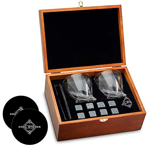 Cool Stones Whiskey Stones and Whiskey Glass Gift Boxed Set (Amazon / Amazon)