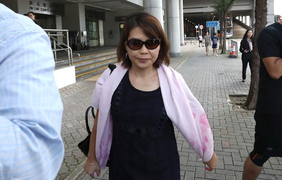 Former Convoy chief financial officer Christie Chan Lai-yee at the Eastern Magistrates' Court in Sai Wan Ho 24 July 2019. Photo: Jonathan Wong