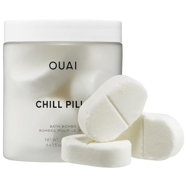 <p>There's no <em>bad</em> time to relax in the bath, but there's just something about a long fall soak in the tub with much-needed <span>Ouai Chill Pills</span> ($30) after a stressful day (or year).</p>
