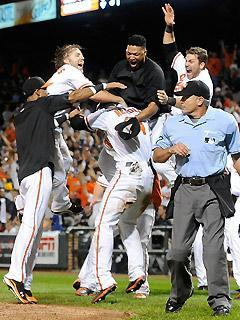 The last-place Orioles celebrated their walkoff win over the Red Sox like they'd just won the World Series
