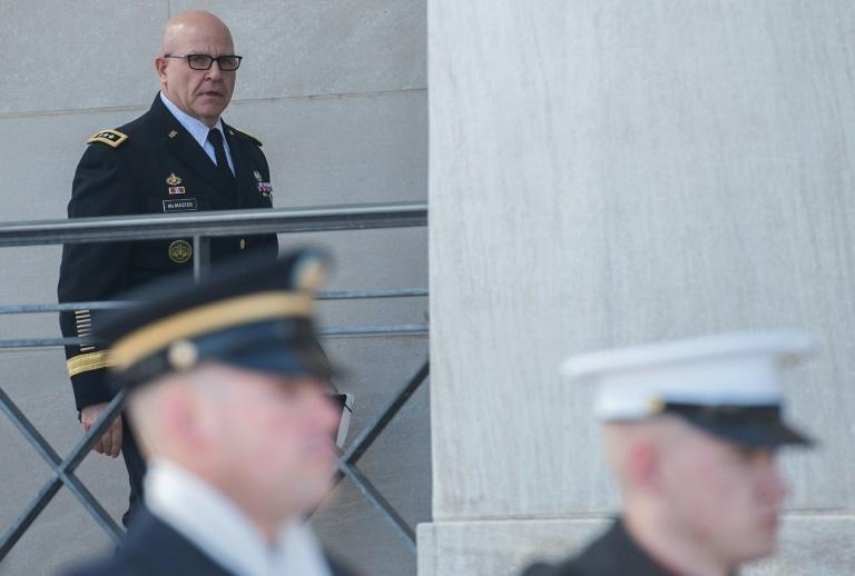 US National Security Adviser H.R. McMaster arrives at the Pentagon in Washington, DC, on March 16, 2017
