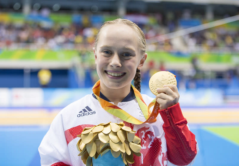 Swimmer Ellie Robinson's emotional poolside interview went viral and inspired the nation (Picture: Imagecomms)