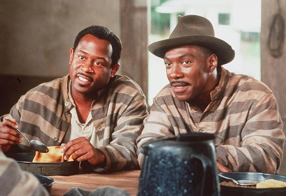 Martin Lawrence and Eddie Murphy in the film 'Life'.