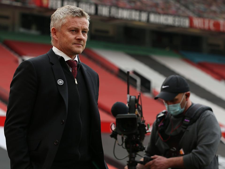 <p>Solskjaer claimed no early insight into United's involvement but that can only be a valid reason for no comment once</p> (Manchester United via Getty Imag)