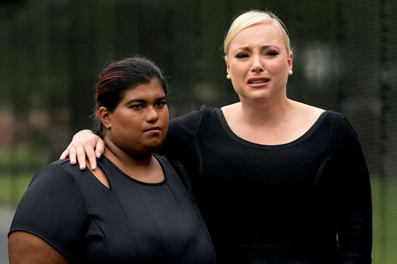 Bridget (left) and Meghan McCain during their father's funeral procession on Sept. 1, 2018 | ANDREW HARNIK/AFP/Getty Images