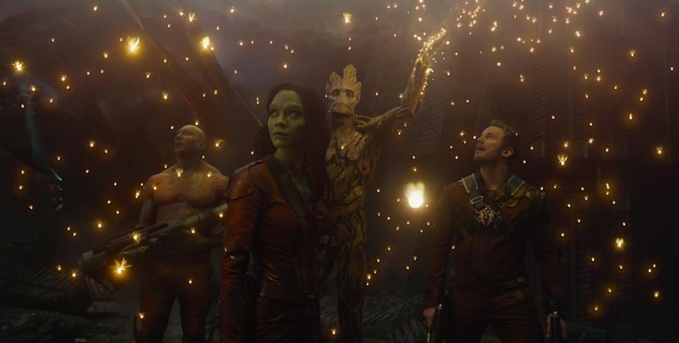 <p>James Gunn's space adventure is arguably Marvel's most enjoyable movie yet. Chris Pratt heads up the gang as the Guardians go on a poignant, thrilling, and excitingly epic journey around the galaxy. Star Lord, Gamora, Drax, Rocket, and Groot form the most likeable bunch of misfits the genre has ever seen. And the soundtrack is the icing on the cake. </p>