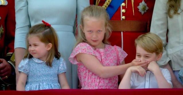 The hilarious young royal moment that everyone is talking about. (Photo: Twitter)