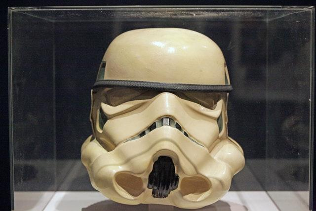A prototype Imperial Stormtrooper helmet from 1976