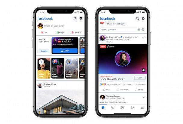 PHOTO: Facebook announced the launch of Live Audio Rooms and podcasts, June 21, 2021. (Facebook)