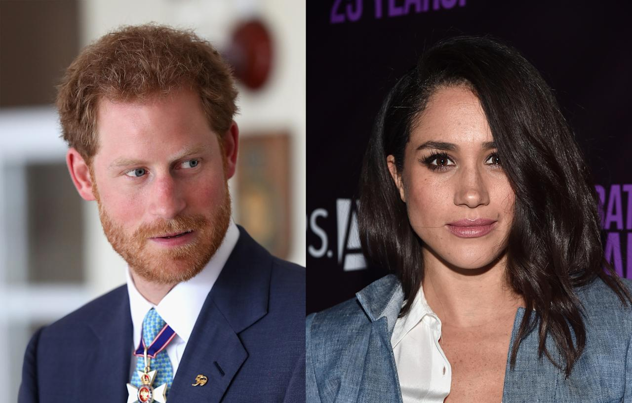 <p>In November, Harry was forced to issue a statement confirming that the <em>Suits</em> star was his girlfriend and telling the media to back off. Markle along with her family and friends had been hounded by the press since the dating rumors began. (Photo: Getty Images) </p>