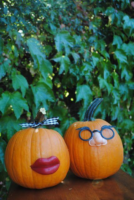 """<p>Pair off your pumpkins with quirky his and hers looks—which, might we add, also bear hilarious resemblance to Mr. and Mrs. Potato Head. They'll work perfectly with your imaginative DIY costumes.</p><p><strong>Get the tutorial at <a href=""""http://www.jacolynmurphy.com/2011/09/officially-kissing-summer-good-bye.html"""" rel=""""nofollow noopener"""" target=""""_blank"""" data-ylk=""""slk:Jacolyn Murphy"""" class=""""link rapid-noclick-resp"""">Jacolyn Murphy</a>.</strong> </p>"""