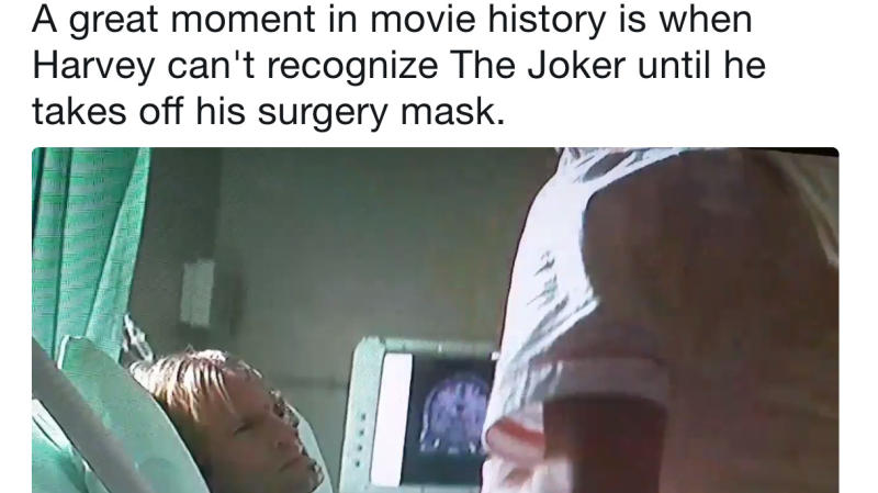 The Internet Just Noticed Harvey Dent's Reaction To The Joker In 'The Dark Knight'
