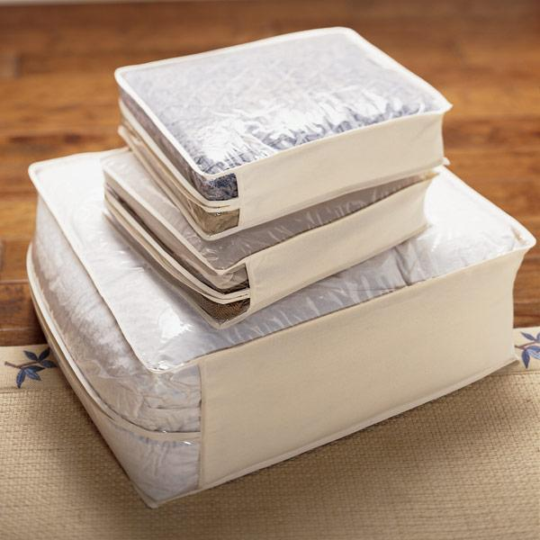 "<p>Plastic under bed bins may work for your extra shampoo, notebooks, and paper towels, but if you're storing out-of-season clothes, extra blankets, or spare sheets, opt for a cotton under bed storage bag instead: Since they're made of breathable fabric, they allow air to circulate, keeping your linens and textiles fresh.</p> <p><strong><em>Shop Now:</em></strong><em> The Container Store Natural Cotton/PEVA Storage Bags, from $12.99, <a href=""https://click.linksynergy.com/deeplink?id=93xLBvPhAeE&mid=37353&murl=https%3A%2F%2Fwww.containerstore.com%2Fs%2Fcloset%2Fstorage-hanging-bags%2Fnatural-cotton-peva-storage-bags%2F12d%3FproductId%3D10000164&u1=MSL21DormRoomStorageIdeasThatMaketheMostofYourSmallSpacesbamseyStoGal7846410202007I"" rel=""nofollow noopener"" target=""_blank"" data-ylk=""slk:containerstore.com"" class=""link rapid-noclick-resp"">containerstore.com</a>.</em></p>"
