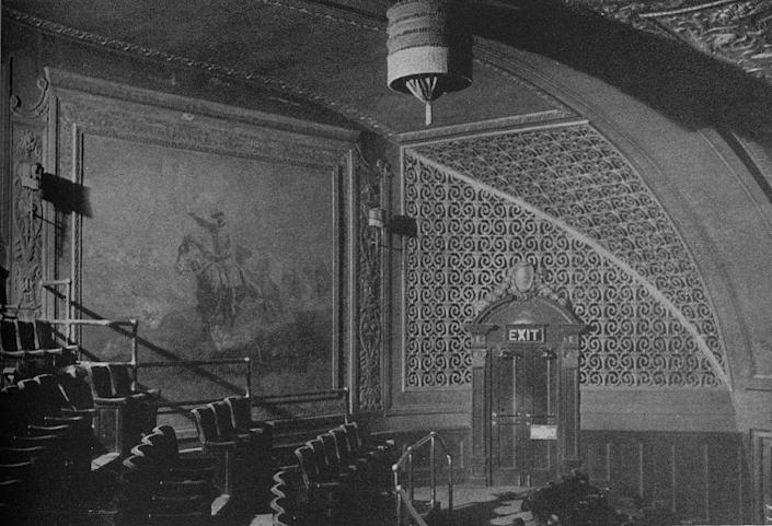 <p>The Roosevelt Theatre opened in 1921. Its first movie was <em>Lessons in Love. </em>Unlike the Chicago Theatre, Oriental Theatre and State Lake Theatre nearby, The Roosevelt Theatre was designed specifically to show movies rather than live entertainment. It was demolished in 1989. </p>