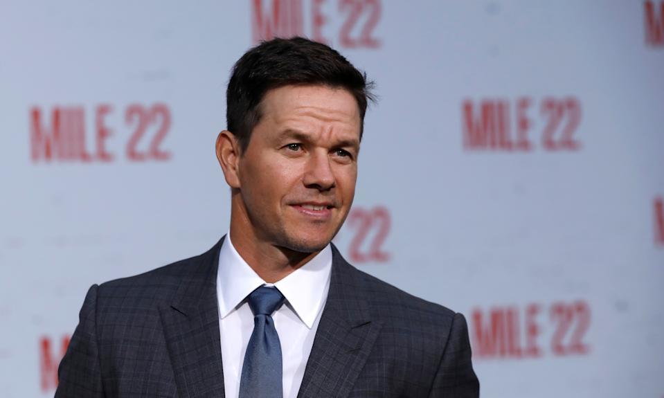 "Cast member Mark Wahlberg poses at the premiere for ""Mile 22"" in Los Angeles, California, U.S., August 9, 2018. REUTERS/Mario Anzuoni"