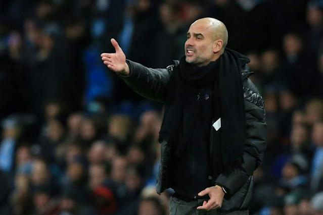 Pep Guardiola's Manchester City are 14 points behind Premier League leaders Liverpool (AFP Photo/Lindsey Parnaby)