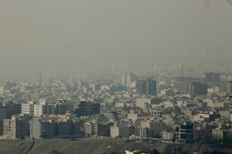Smog is seen blanketing the Iranian capital in this November 13, 2019 picture