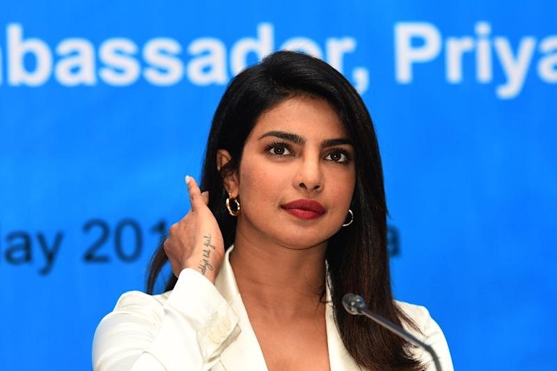 Bollywood star Priyanka Chopra, who plays an FBI agent in 'Quantico', is the first Indian to headline a US network series (AFP Photo/MUNIR UZ ZAMAN)