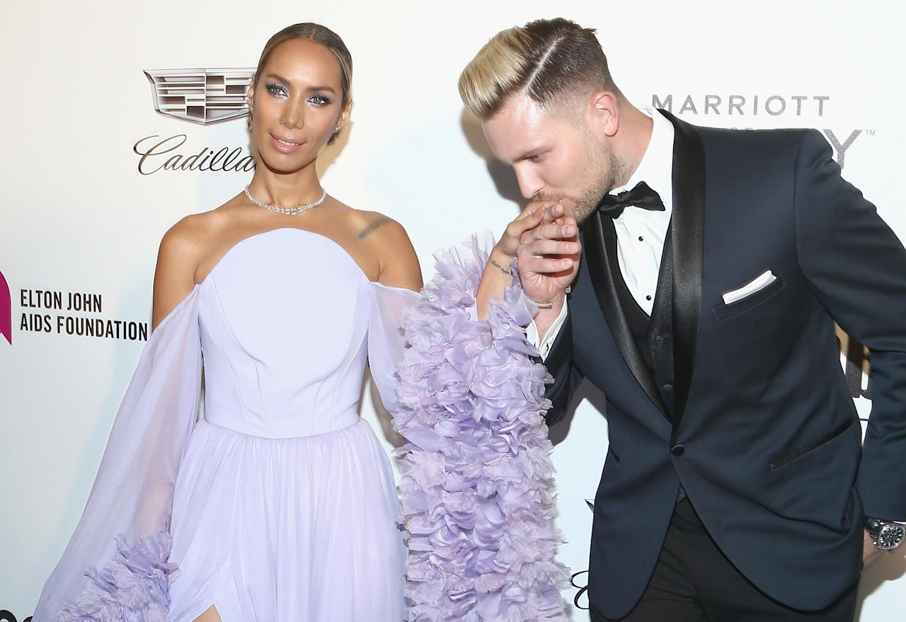 """<a href=""""https://www.wmagazine.com/topic/leona-lewis?mbid=synd_yahoo_rss"""">Leona Lewis</a> married her longtime boyfriend Dennis Jauch on July 27 in Tuscany. The couple first met nine years ago when Jauch was Lewis's backup dancer."""