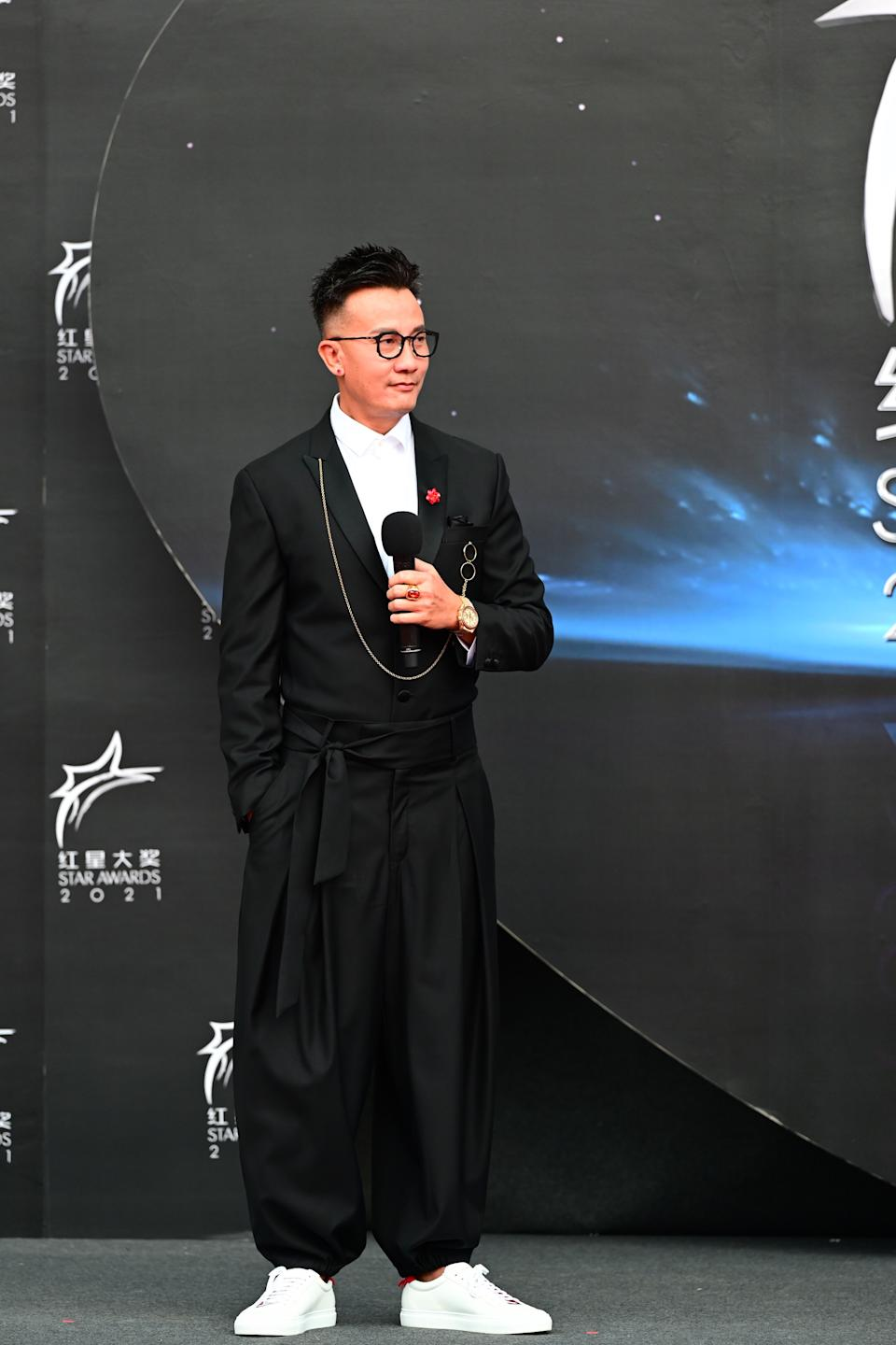 Chen Han Wei at Star Awards held at Changi Airport on 18 April 2021. (Photo: Mediacorp)
