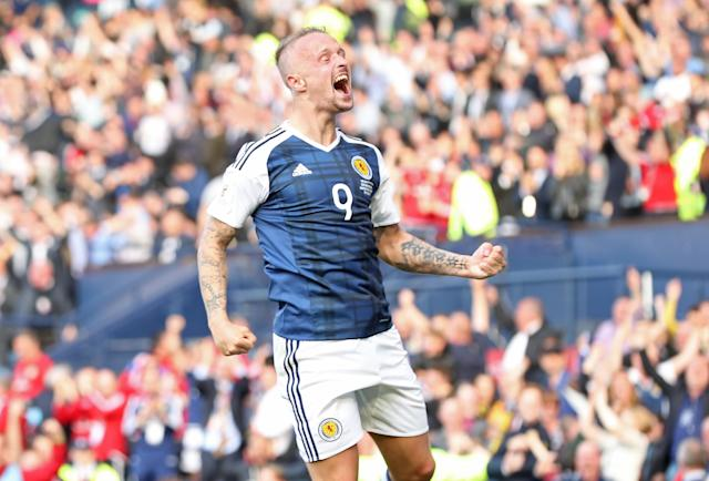 Griffiths scored two brilliant free-kicks for Scotland in a 2-2 World Cup qualifying draw with England (Martin Rickett/PA).