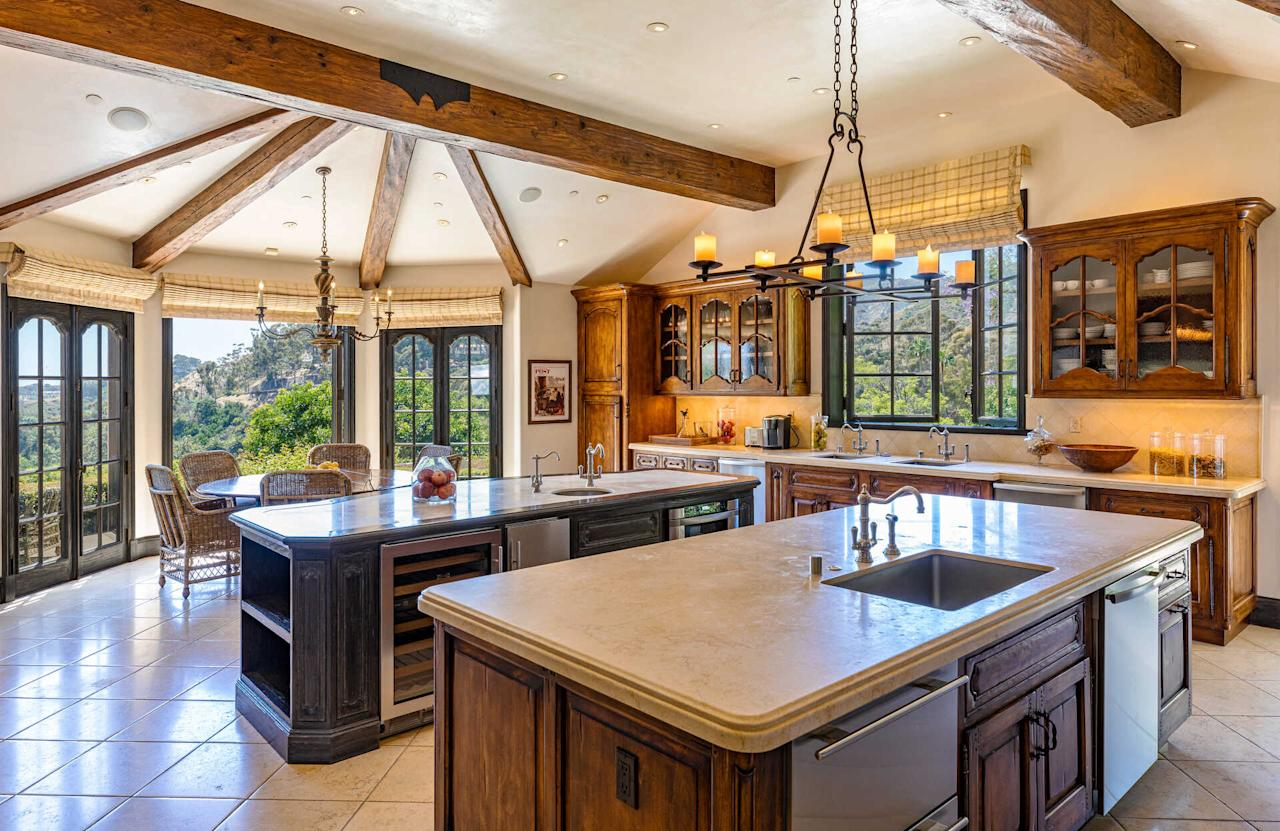Celebrity chef Wolfgang Puck designed this kitchen, which includes both indoor and outdoor dining areas. (The Agency)