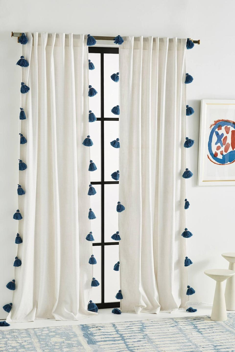 """<p>This <a href=""""https://www.popsugar.com/buy/Mindra-Curtain-560408?p_name=Mindra%20Curtain&retailer=anthropologie.com&pid=560408&price=78&evar1=casa%3Aus&evar9=46598422&evar98=https%3A%2F%2Fwww.popsugar.com%2Fhome%2Fphoto-gallery%2F46598422%2Fimage%2F47342591%2FMindra-Curtain&list1=shopping%2Chome%20decor%2Chome%20shopping&prop13=mobile&pdata=1"""" class=""""link rapid-noclick-resp"""" rel=""""nofollow noopener"""" target=""""_blank"""" data-ylk=""""slk:Mindra Curtain"""">Mindra Curtain</a> ($78-$108) also comes in pink and blue.</p>"""
