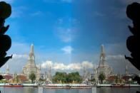 FILE PHOTO: Wat Arun temple and its reflection are seen on the banks of Chao Phraya river in Bangkok,