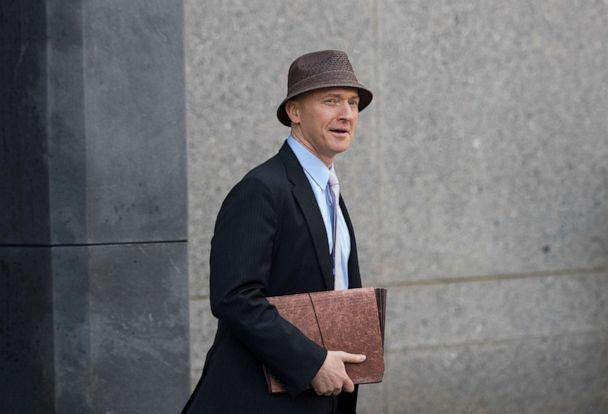 PHOTO: Carter Page arrives at the at the United States District Court Southern District of New York on the same day as a hearing regarding Michael Cohen, longtime personal lawyer and confidante for President Donald Trump, April 16, 2018, in New York. (Drew Angerer/Getty Images, FILE)