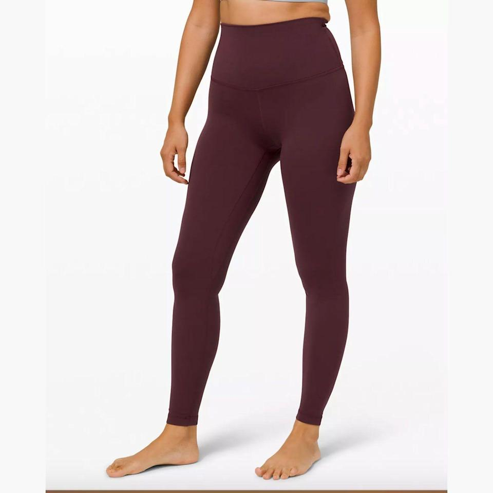 """<p><strong>Lululemon</strong></p><p>lululemon.com</p><p><strong>$98.00</strong></p><p><a href=""""https://go.redirectingat.com?id=74968X1596630&url=https%3A%2F%2Fshop.lululemon.com%2Fp%2Fwomen-pants%2FAlign-Pant-Super-Hi-Rise-28%2F_%2Fprod9200552&sref=https%3A%2F%2Fwww.goodhousekeeping.com%2Fclothing%2Fg35035078%2Fbest-workout-clothes-for-women%2F"""" rel=""""nofollow noopener"""" target=""""_blank"""" data-ylk=""""slk:Shop Now"""" class=""""link rapid-noclick-resp"""">Shop Now</a></p><p><a href=""""https://www.goodhousekeeping.com/clothing/a33834921/best-lululemon-leggings/"""" rel=""""nofollow noopener"""" target=""""_blank"""" data-ylk=""""slk:Lululemon"""" class=""""link rapid-noclick-resp"""">Lululemon</a> has a cult-like following for their workout leggings in the brand's signature fabrics. While most of its leggings cost around $100, these splurge-worthy leggings proved <strong>durable in our evaluations as well as comfy and flattering.</strong> The buttery soft Nulu fabric (as seen in the Align leggings) is perfect for lounging while the <a href=""""https://go.redirectingat.com?id=74968X1596630&url=https%3A%2F%2Fshop.lululemon.com%2Fc%2Fwomens-leggings%2F_%2FN-8s6Z1z0xb31&sref=https%3A%2F%2Fwww.goodhousekeeping.com%2Fclothing%2Fg35035078%2Fbest-workout-clothes-for-women%2F"""" rel=""""nofollow noopener"""" target=""""_blank"""" data-ylk=""""slk:Everlux fabric"""" class=""""link rapid-noclick-resp"""">Everlux fabric</a> is designed specifically for high-intensity training, wicking away sweat and minimizing friction. We love that the brand now offers extended sizing up to a size 20 in popular styles and shades. Pro tip – check out the brand's <a href=""""https://go.redirectingat.com?id=74968X1596630&url=https%3A%2F%2Fshop.lululemon.com%2Fc%2Fsale%2F_%2FN-1z0xcuuZ8t6&sref=https%3A%2F%2Fwww.goodhousekeeping.com%2Fclothing%2Fg35035078%2Fbest-workout-clothes-for-women%2F"""" rel=""""nofollow noopener"""" target=""""_blank"""" data-ylk=""""slk:We Made Too Much page"""" class=""""link rapid-noclick-resp""""><em>We Made Too Much </em>page</a> to shop super on sale deals.</p>"""