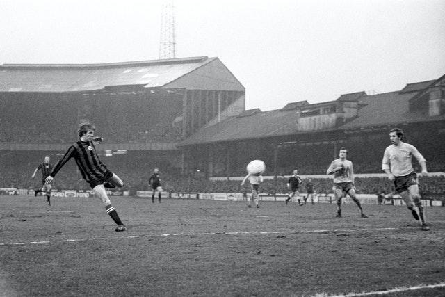 Bell, left, scores his second goal in the FA Cup tie at Chelsea in January 1971